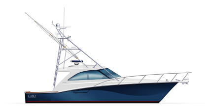 Cabo Yachts Boat PNG