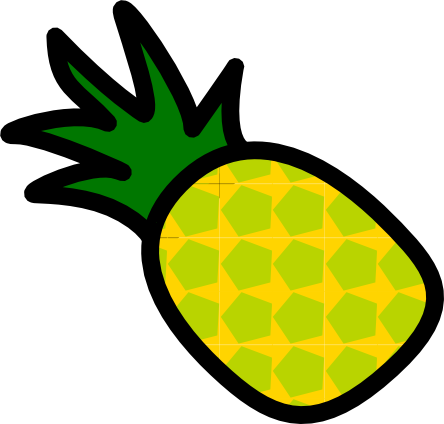Realistic Looking Pineapple Clip Art PNG