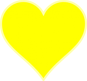 Yellow Heart Transparent Background