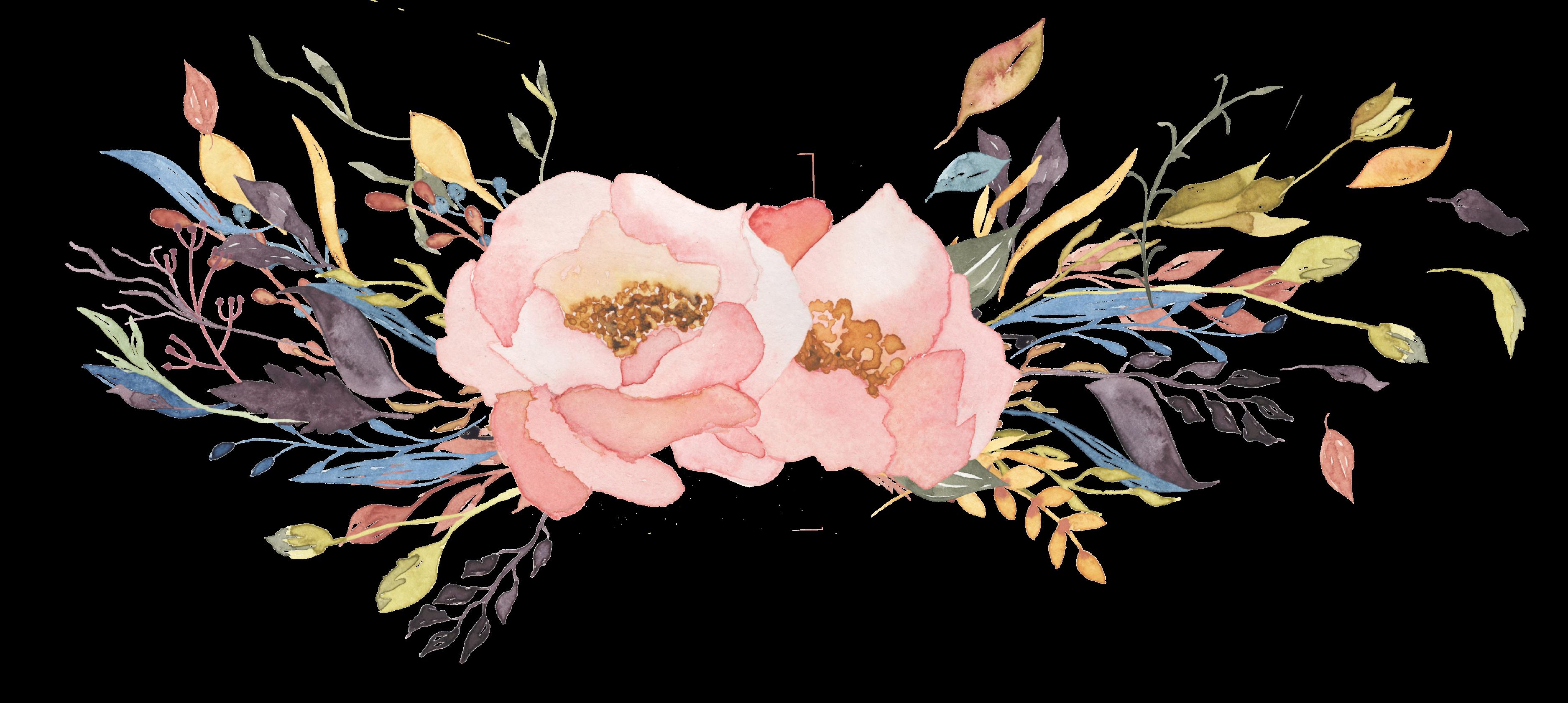 Flower Watercolor Art Transparent Background
