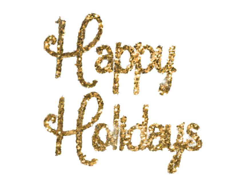 Glitter Happy Holidays PNG File