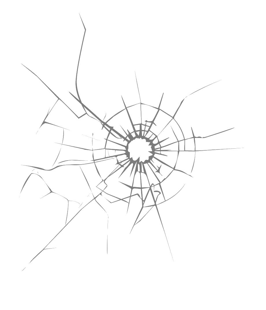 Broken Crack Glass PNG Pic