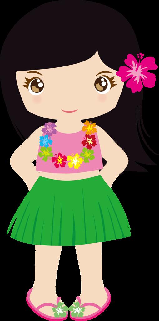 Hawaiian Luau Girl PNG Image