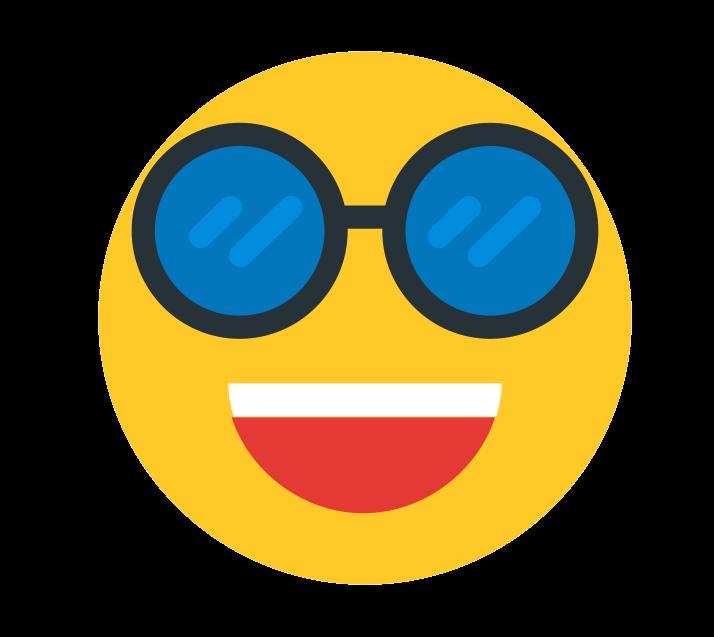 WhatsApp Hipster Emoji PNG Transparent Image