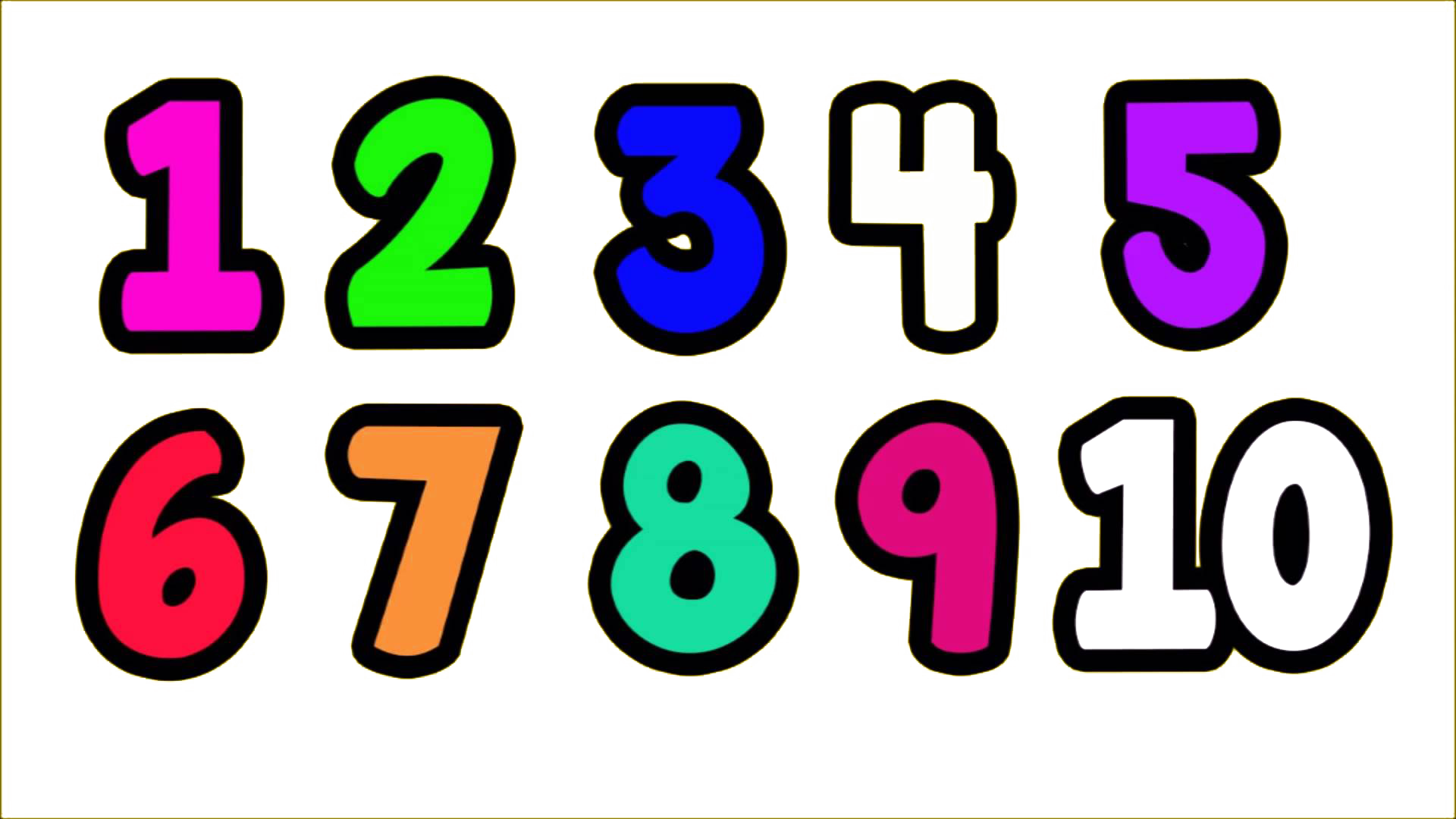 1 To 10 Number Transparent PNG