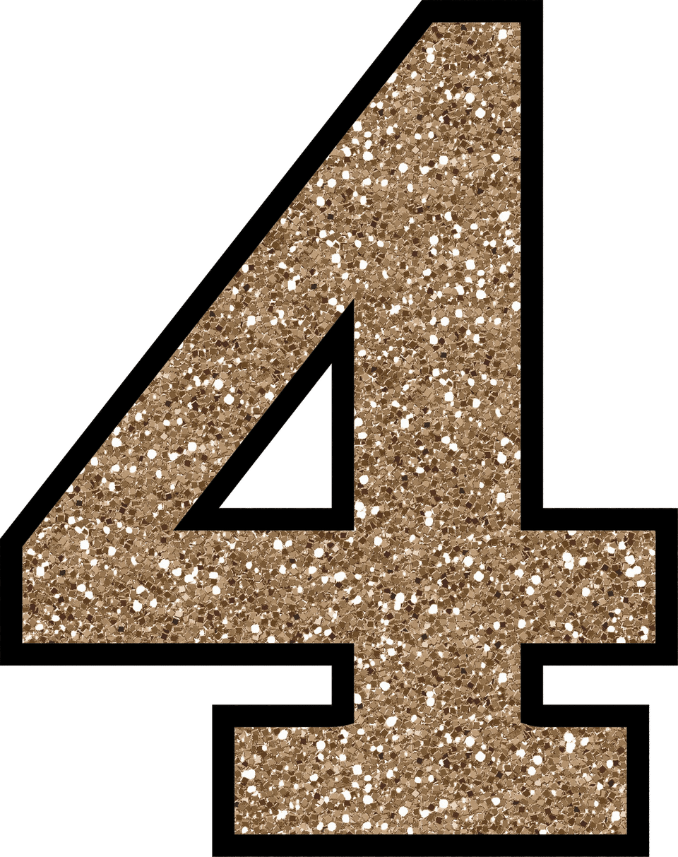 Glitter Number PNG Free Download