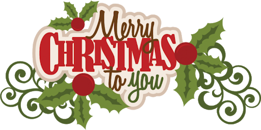 Happy Christmas Text PNG Photo