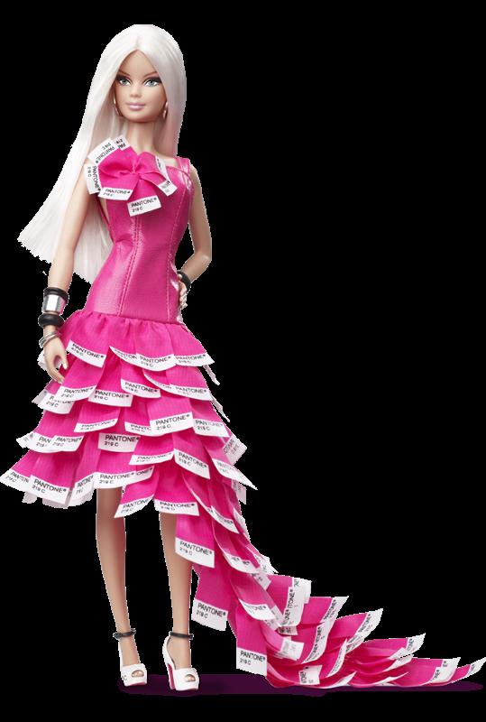 Barbie Doll Princess Pink Dress PNG