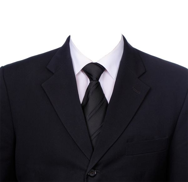 Black Blazer Tie PNG