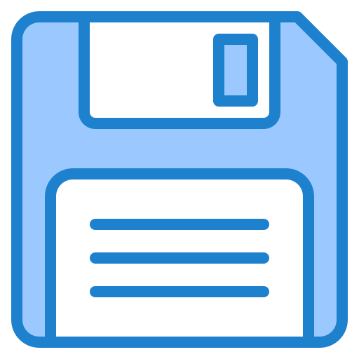 Blue Floppy Disk PNG Photos