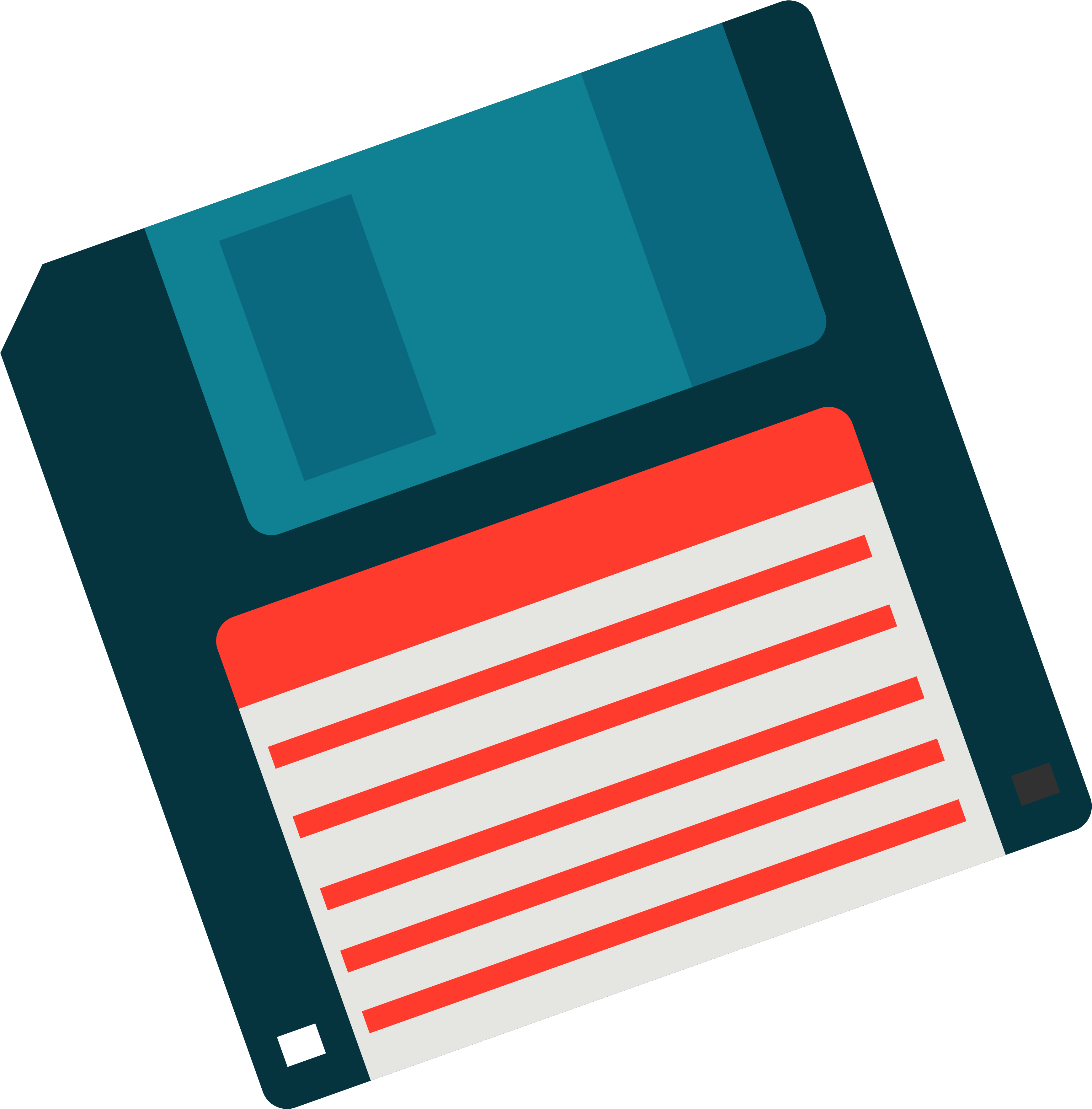 Blue Floppy Disk PNG Transparent Image