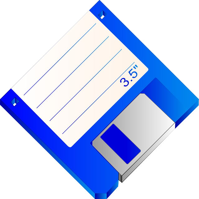 Blue Floppy Disk Transparent PNG
