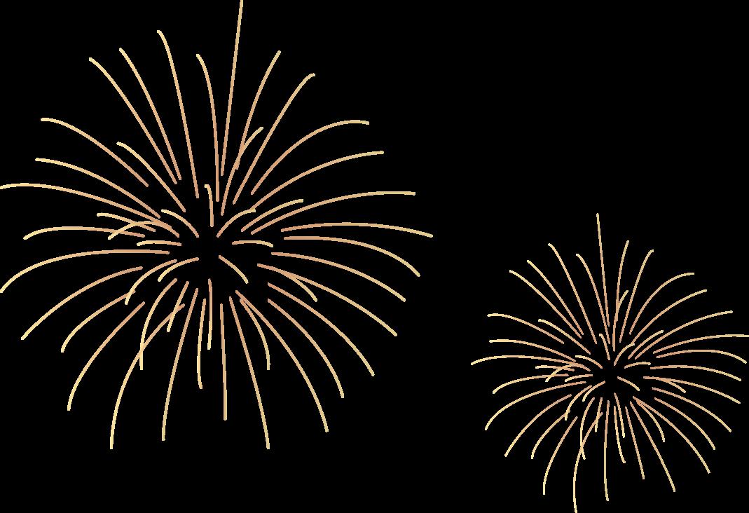 Gold Fireworks Transparent PNG