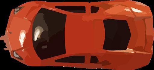 Orange Ferrari Top View Transparent PNG