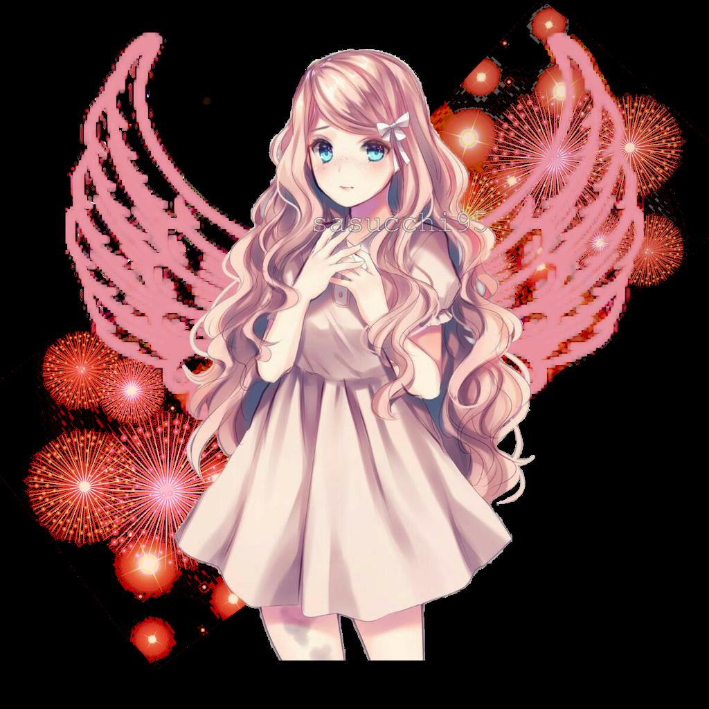 Pastel Anime Girl Transparent PNG