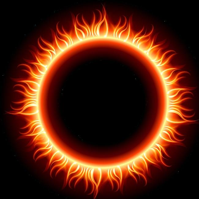 Vector Fire Flame Circle Transparent PNG