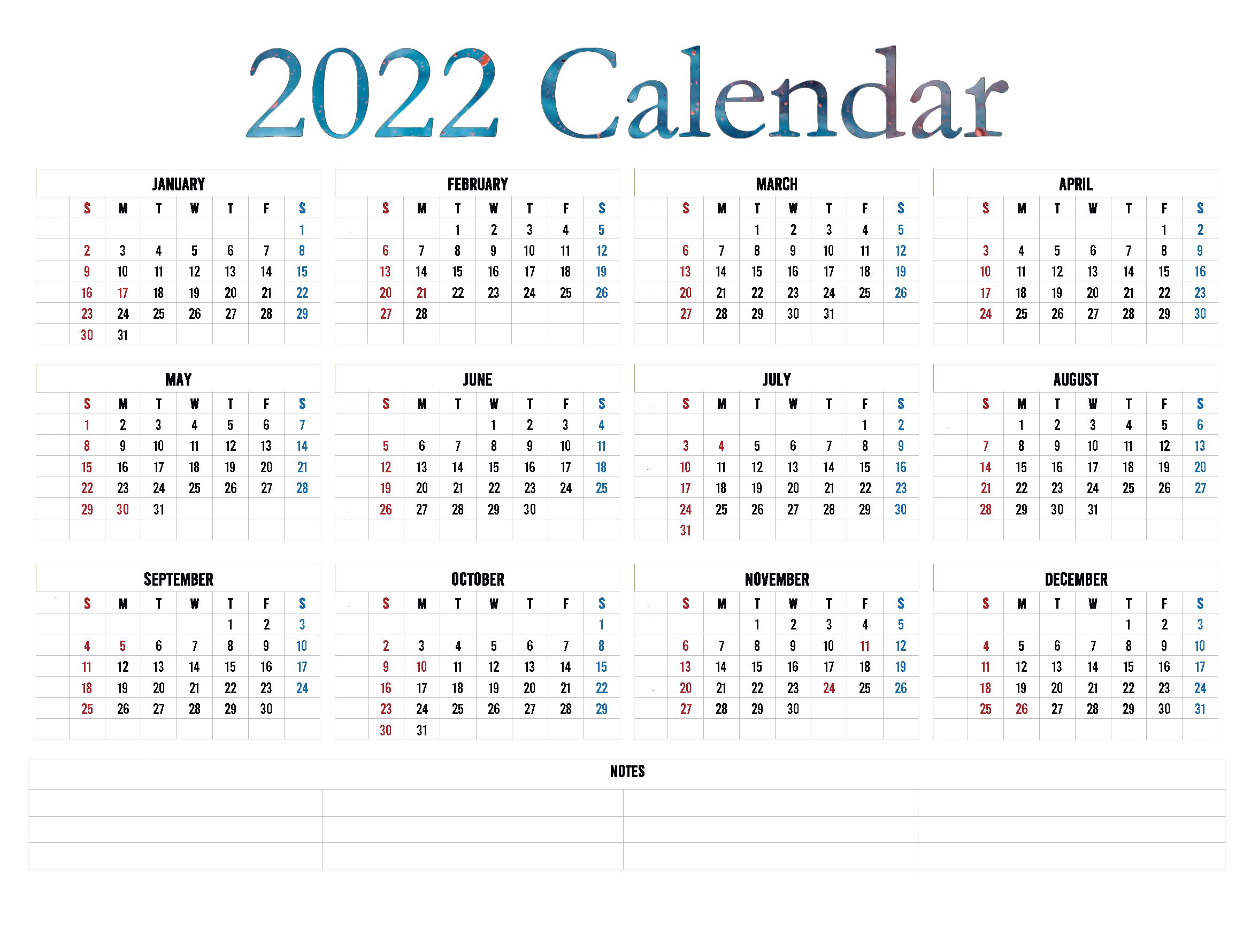 Calendar 2022 Transparent PNG