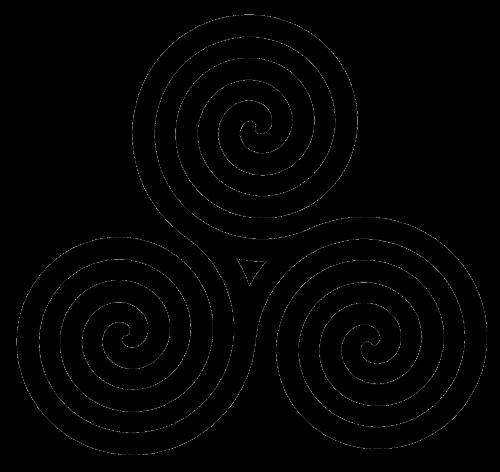 Coil Celtic Triple Spiral Transparent PNG