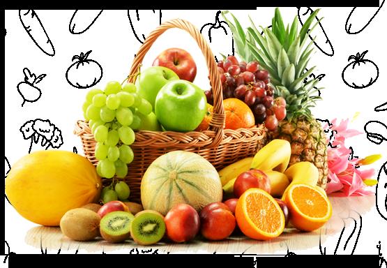 Fruit Basket Transparent PNG