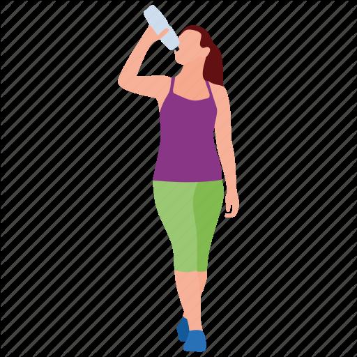 Girl Drinking Vector PNG Photos