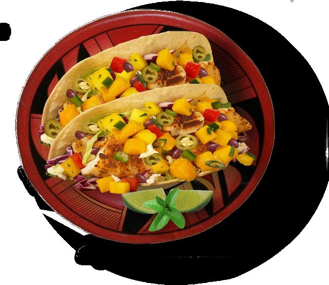 Gourmet Fish Taco PNG Clipart