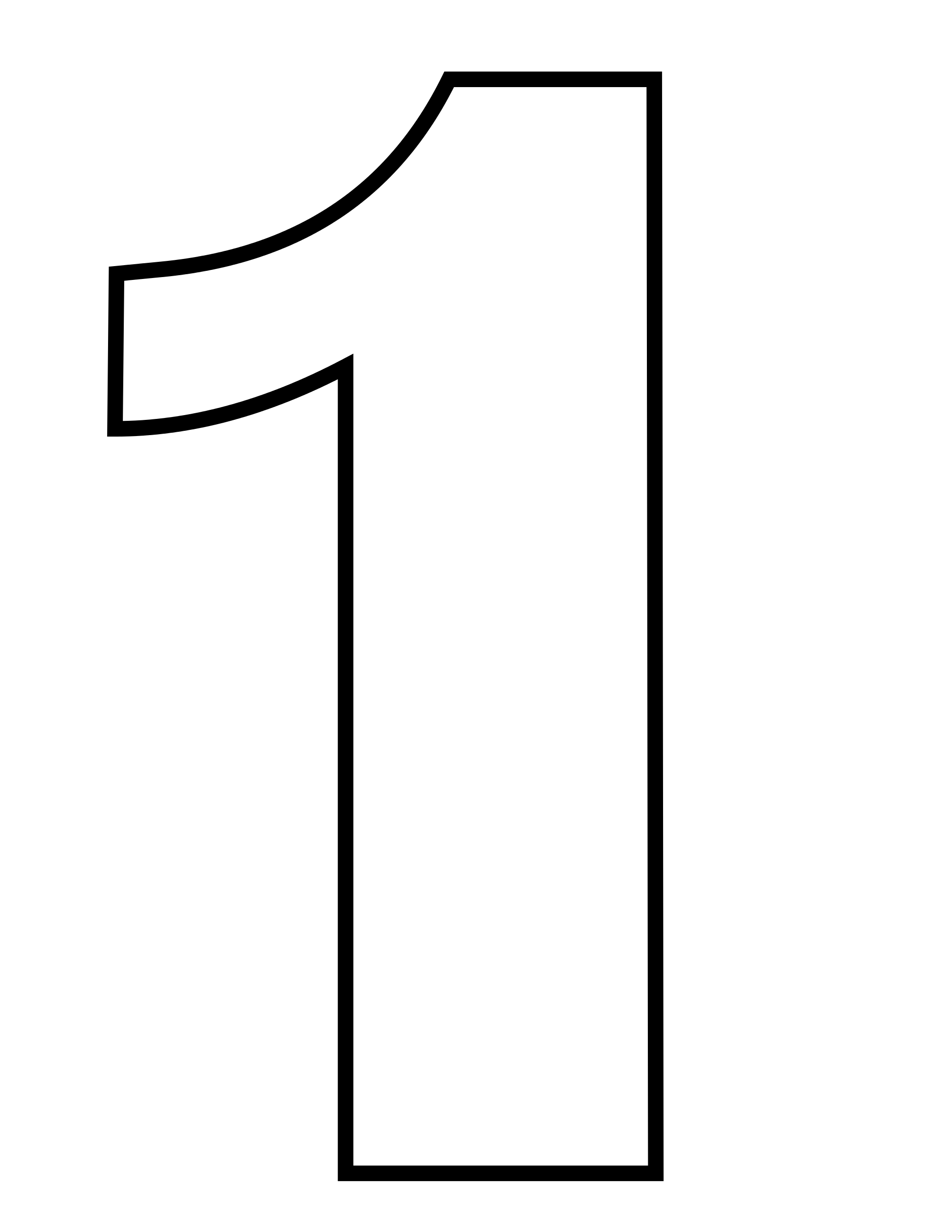 Vector Number 1 Transparent PNG