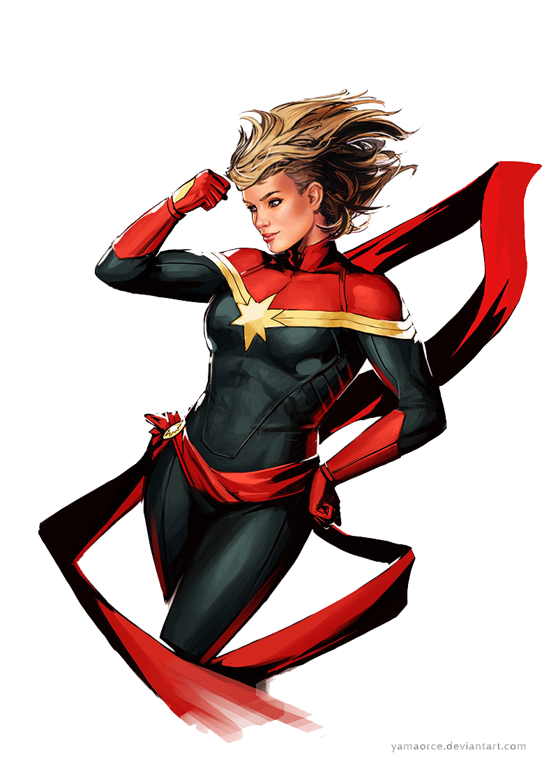 Captain Marvel PNG Transparent Image