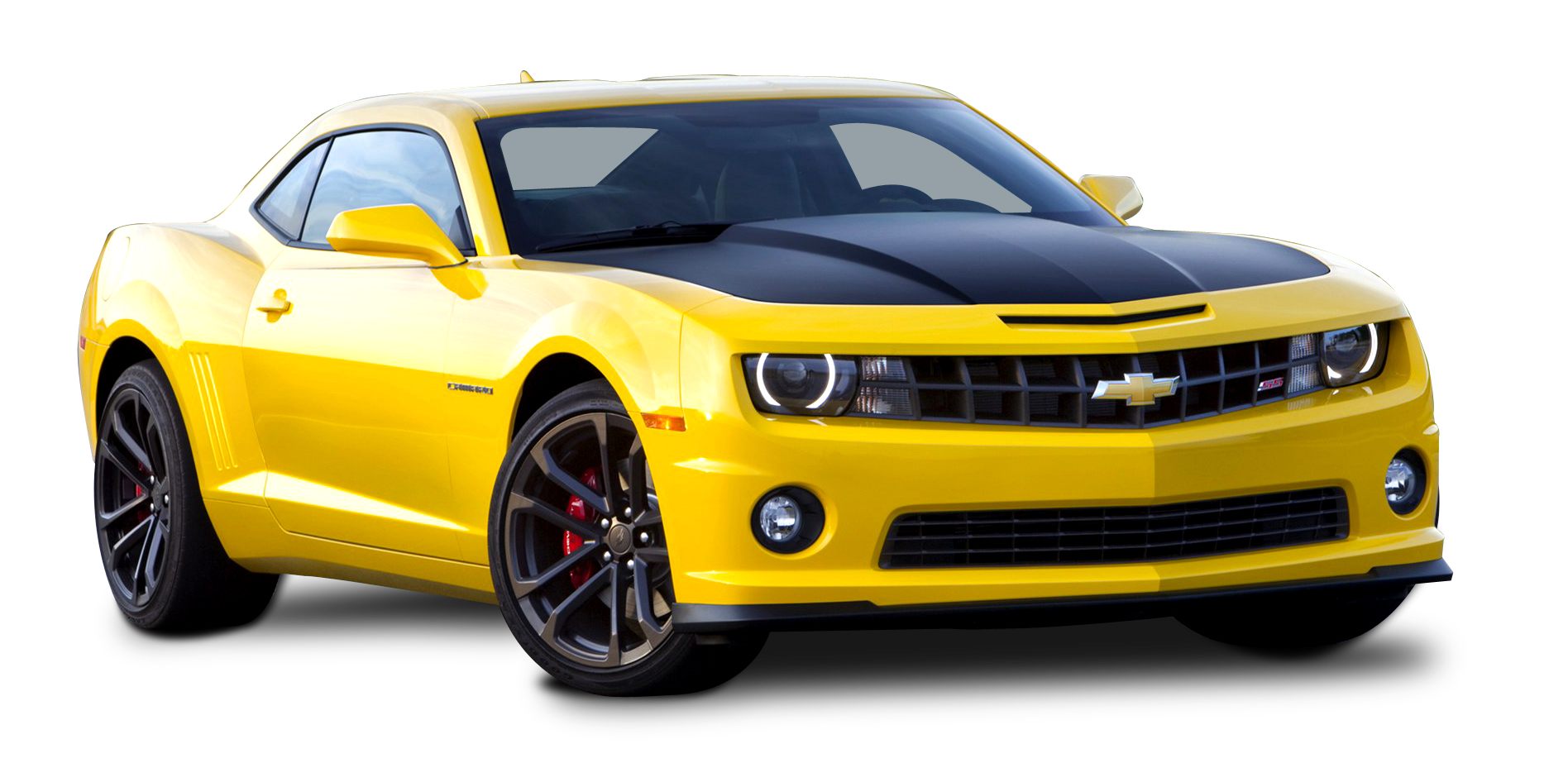 Yellow Camaro PNG Picture