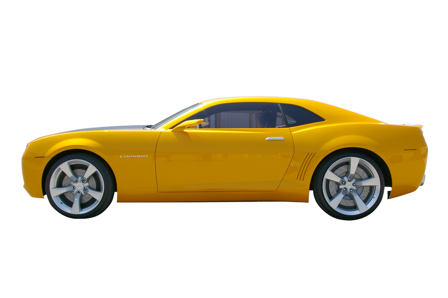 Yellow Camaro Transparent Background