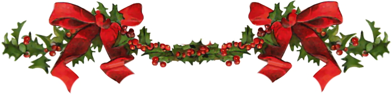 Christmas Dividers PNG Transparent Image