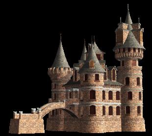 Fantasy Castle PNG Clipart