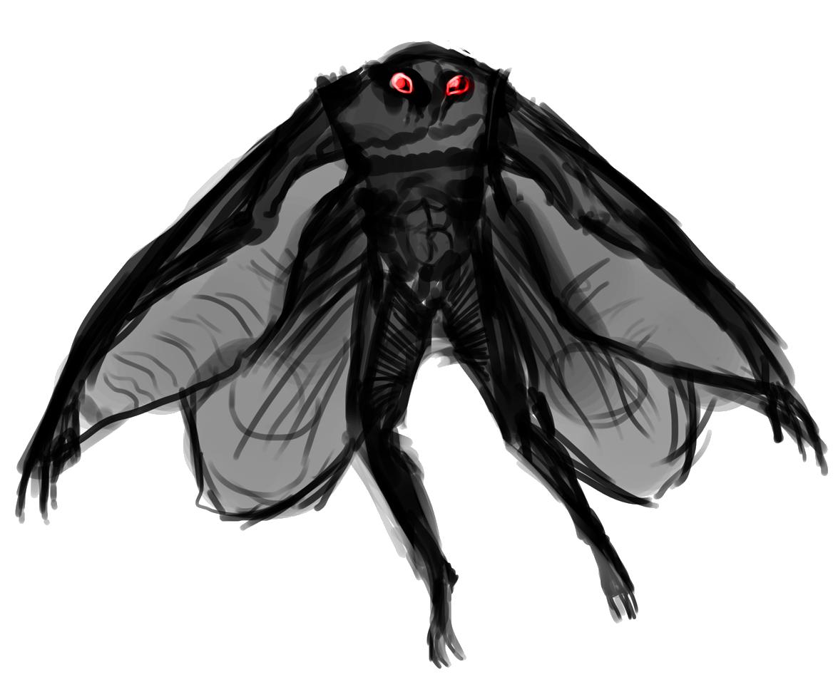 Moth Man PNG Transparent Image