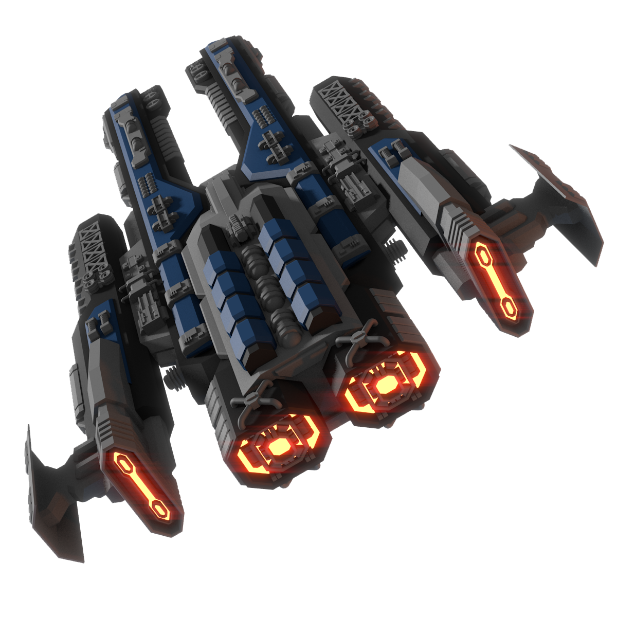 Spaceship PNG Transparent Image