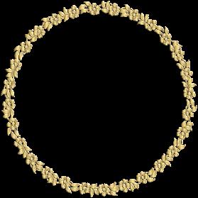 Golden Round Frame PNG Image