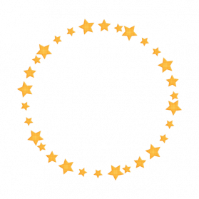 Golden Round Frame PNG Pic