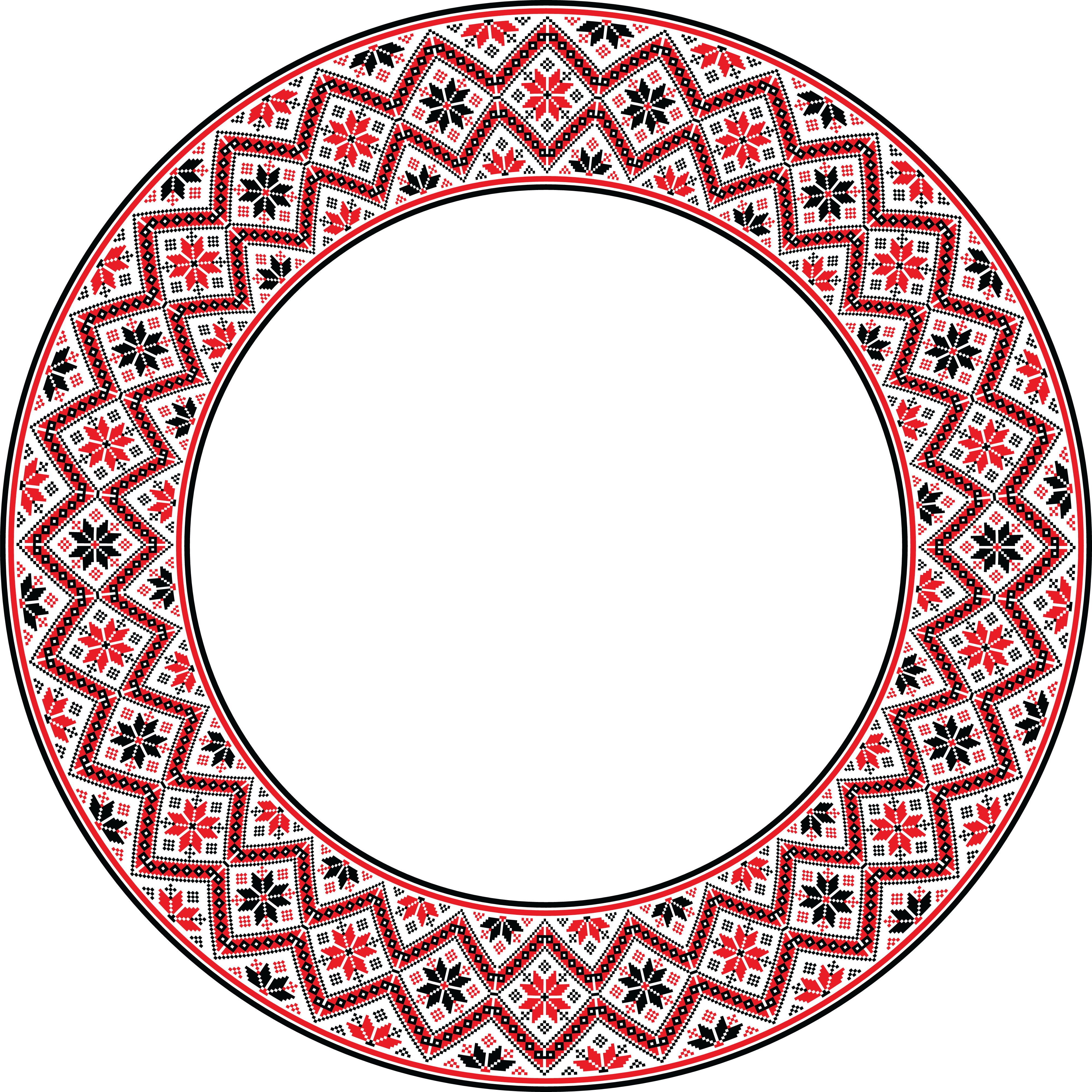 Round Frame PNG Transparent Image