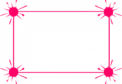 Pink Border Frame PNG Transparent
