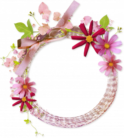 Pink Flower Frame Transparent Background