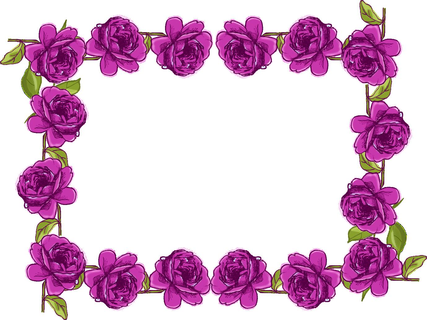 Purple Border Frame PNG Transparent Picture