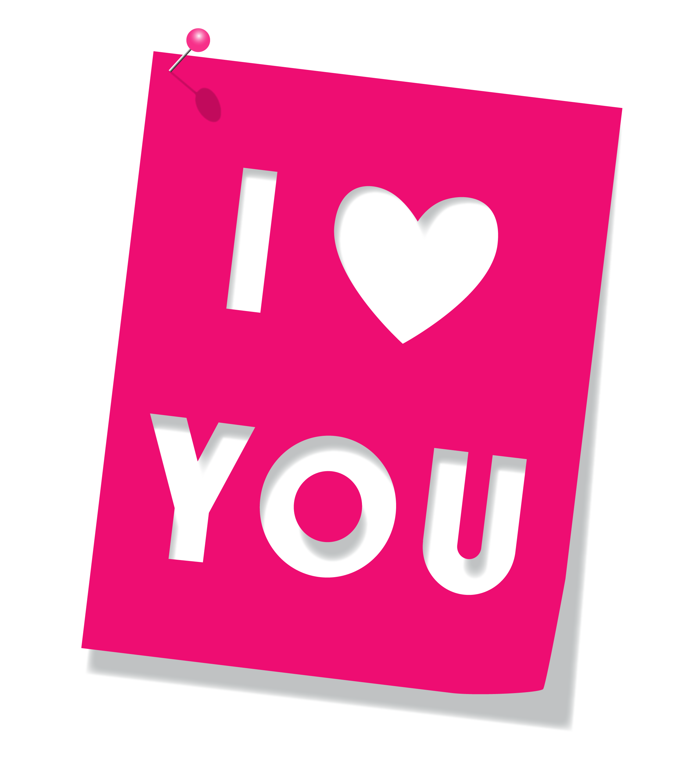 I Love You PNG File