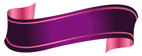 Purple Banner Transparent PNG