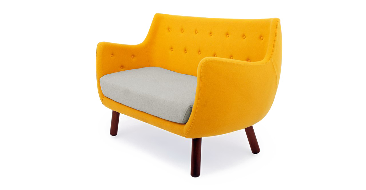 Yellow Sofa PNG File